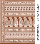 textile traditional paisley... | Shutterstock . vector #1476452324