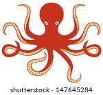 octopus and tentacles | Shutterstock .eps vector #147645284