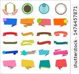 a collection of various ribbons ... | Shutterstock . vector #1476457871