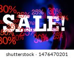 sale digital percent in hand | Shutterstock . vector #1476470201