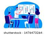 agile management team. vector... | Shutterstock .eps vector #1476473264