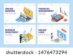 financial landing page.... | Shutterstock .eps vector #1476473294