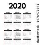 Calendar 2020  Week Starts On...