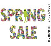 spring sale background with... | Shutterstock .eps vector #1476479984