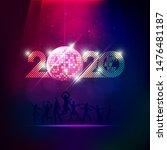 2020 happy new year in vivid... | Shutterstock .eps vector #1476481187