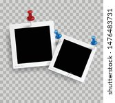 retro realistic photo frame... | Shutterstock .eps vector #1476483731
