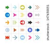 25 arrow sign icon set 01....