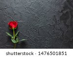 Red Rose On A Black Background...