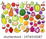 group of tropical fruits ... | Shutterstock .eps vector #1476510287