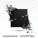 square black stone with... | Shutterstock .eps vector #1476517811