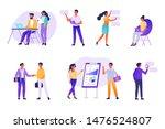 business people working... | Shutterstock . vector #1476524807