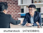 young asian businessman and... | Shutterstock . vector #1476538841