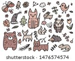doodle cute forest animal ...   Shutterstock .eps vector #1476574574