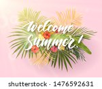 summer tropical vector design... | Shutterstock .eps vector #1476592631