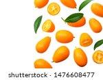 cumquat or kumquat with leaves... | Shutterstock . vector #1476608477