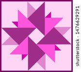 Barn quilt pattern, Patchwork design, Abstract geometric tiled Vector illustration