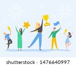 set of man and woman... | Shutterstock .eps vector #1476640997