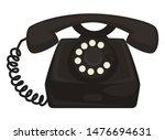 telephone  40s retro device or... | Shutterstock .eps vector #1476694631