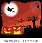 halloween background | Shutterstock .eps vector #147671465