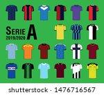 set of soccer jersey mockup for ...   Shutterstock .eps vector #1476716567
