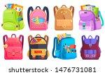 colored school backpack.... | Shutterstock .eps vector #1476731081