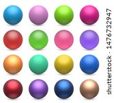 color balls set isolated on... | Shutterstock .eps vector #1476732947