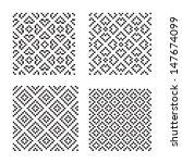 set of geometrical seamless... | Shutterstock .eps vector #147674099