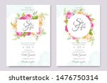 wedding invitation card with... | Shutterstock .eps vector #1476750314