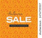 vintage halloween sale vector... | Shutterstock .eps vector #1476755537