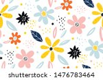seamless childish pattern with... | Shutterstock .eps vector #1476783464