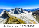Mountain peak snow landscape. Snow peaks in mountains. Mountains snow peaks landscape. Mountain peak snow panorama