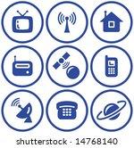 media   vector icons set | Shutterstock .eps vector #14768140