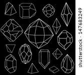 black and white diamonds.vector ...   Shutterstock .eps vector #147683249