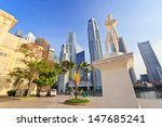 sir stamford raffles statue and ... | Shutterstock . vector #147685241