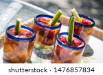 refreshing summer time drinks.... | Shutterstock . vector #1476857834