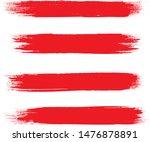 brush stroke set isolated on... | Shutterstock .eps vector #1476878891