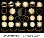 collection of luxury golden... | Shutterstock . vector #1476916694