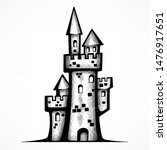 retro castle sketch  antique... | Shutterstock . vector #1476917651