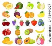 set of fruits. watermelon ... | Shutterstock .eps vector #1476944027