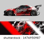 car wrap decal design concept.... | Shutterstock .eps vector #1476950987