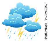 background with thunderstorm....   Shutterstock .eps vector #1476980357