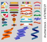 set of nice retro ribbons and... | Shutterstock .eps vector #147698219