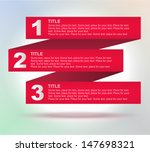 tabs  1  2  3  4. four banners... | Shutterstock .eps vector #147698321