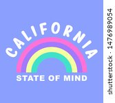 california state of mind.... | Shutterstock .eps vector #1476989054