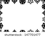 seamless snowflakes background .... | Shutterstock .eps vector #147701477