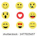 expression emoji sets design by ... | Shutterstock .eps vector #1477025657