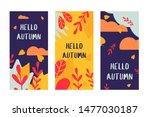 hello autumn card flower leaf... | Shutterstock .eps vector #1477030187