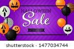 halloween sale lettering in...   Shutterstock .eps vector #1477034744
