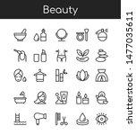 beauty industry vector linear... | Shutterstock .eps vector #1477035611