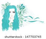 facial of a woman in abstract... | Shutterstock .eps vector #147703745